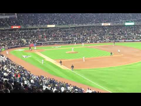 Magical Moment at The Stadium. All Rise!!! Aaron Judge 3 run HR - Game 3 - 2017 ALCS - 10/16/17