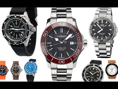 5 Best Swiss Divers Under $1000, Oris Aquis, Marathon, Glycine Combat Sub, CWard C60, Squale 1521