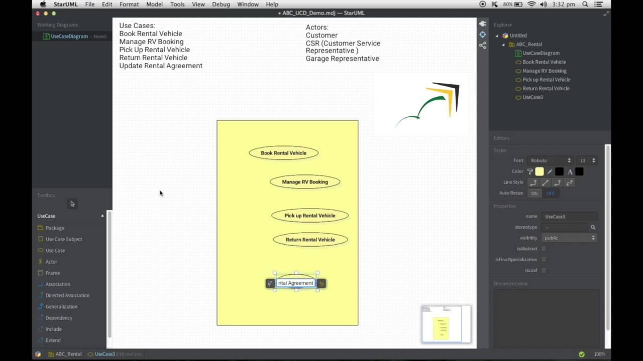 Use Case Diagram using StarUml 2 0 YouTube