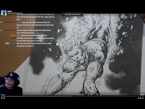 AQUAMAN! MERA! Art Stream with Jim Lee