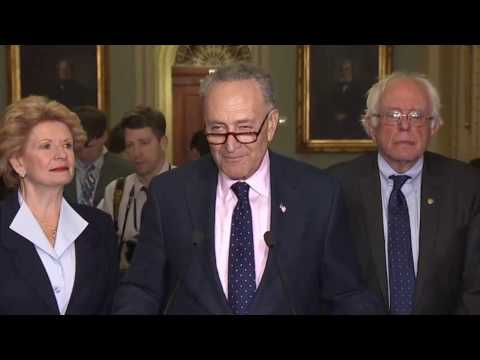 Senator Chuck Schumer and Bernie Sanders RAGING AT TRUMP Senate Democratic Leaders Deliver Remarks ✔