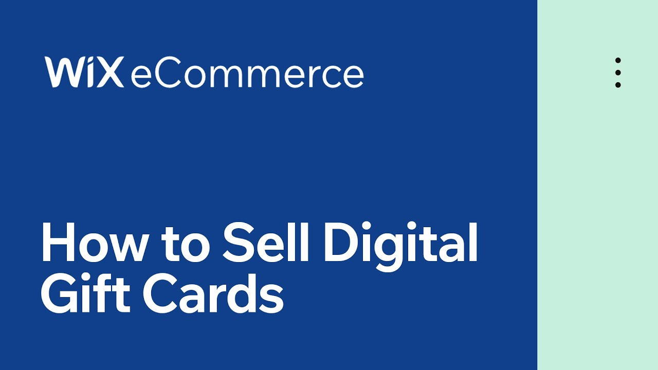 Wix eCommerce | How to Sell Digital Gift Cards for Your Online Store