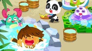 Baby Panda's Monster Spa Salon - Clean Up Bathe & Feeding Baby Monsters - Kids Game Revie