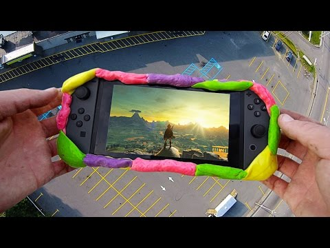 Can Laffy Taffy Protect Nintendo Switch from  100 FT Extreme Drop Test? - GizmoSlip
