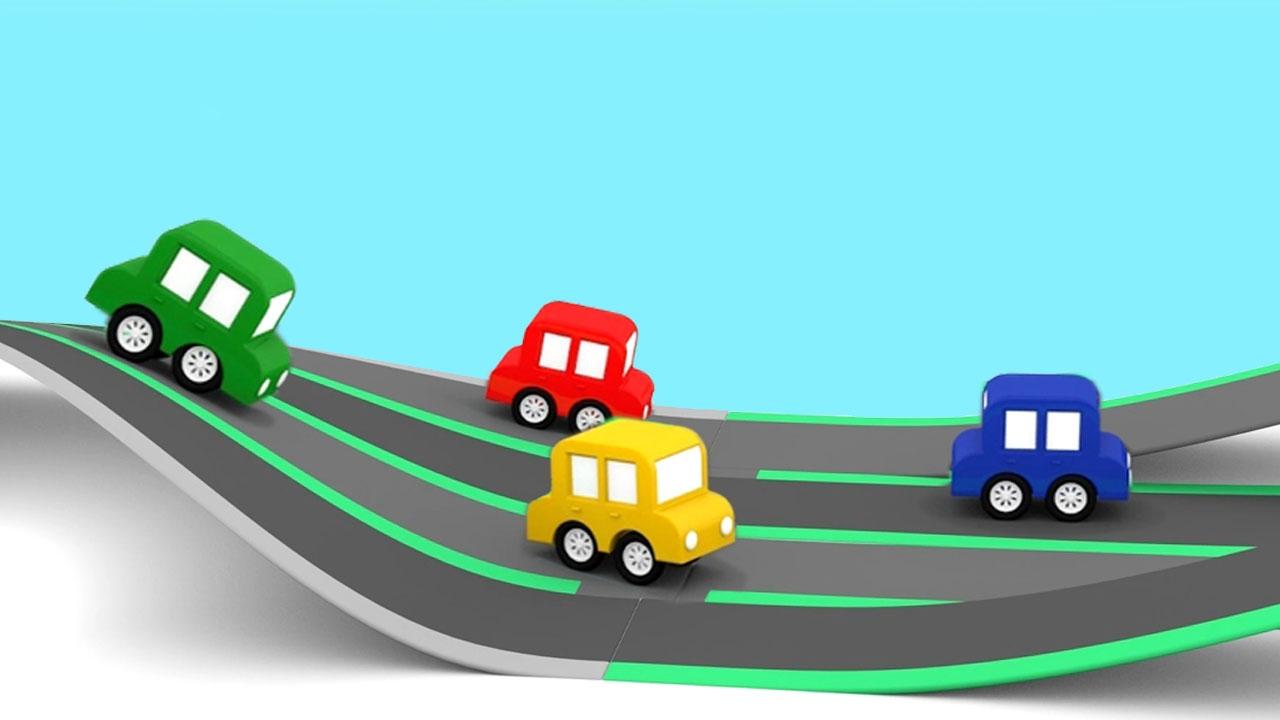 Cartoni animati per bambini macchinine colorate e la gara