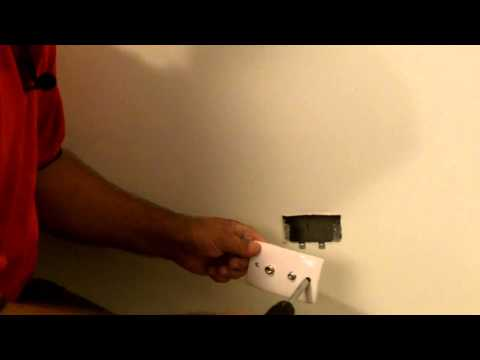 Jim's Antennas: How To Install A Wall Plate - Tutorial