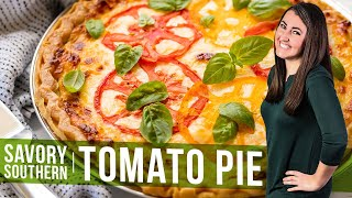 How to Make Savory Southern Tomato Pie | The Stay At Home Chef