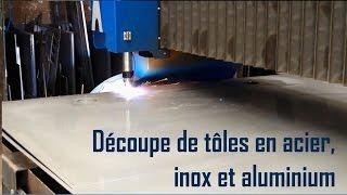 Découpe plasma HD de tôles acier, inox, aluminium par Caldor Métallerie