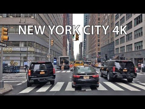 Driving Downtown - NYC Madison Avenue 4K - USA