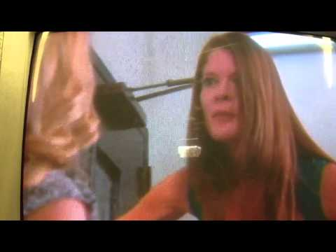 phyllis and sharon argue in a stairwell