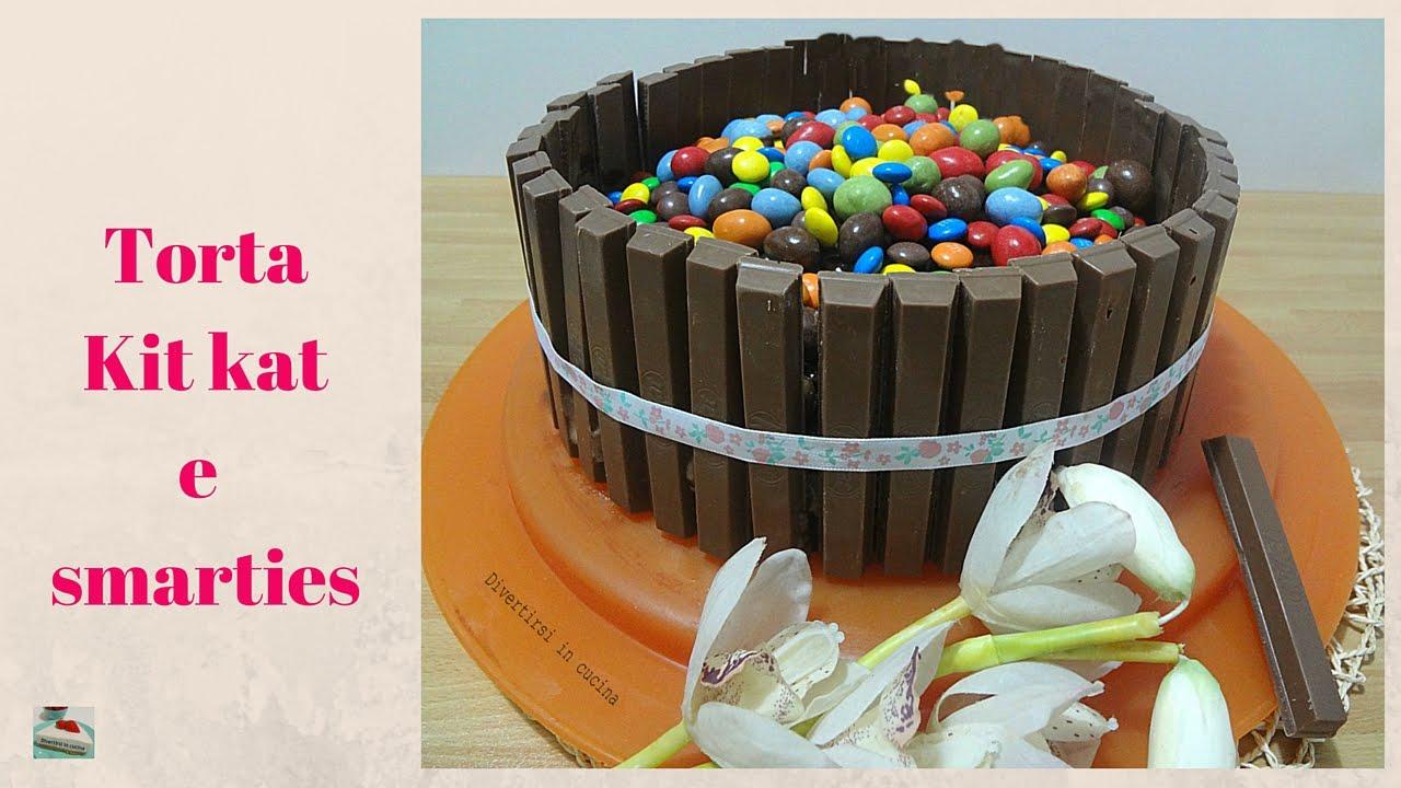 Torta Kit Kat E Smarties Divertirsi In Cucina Youtube