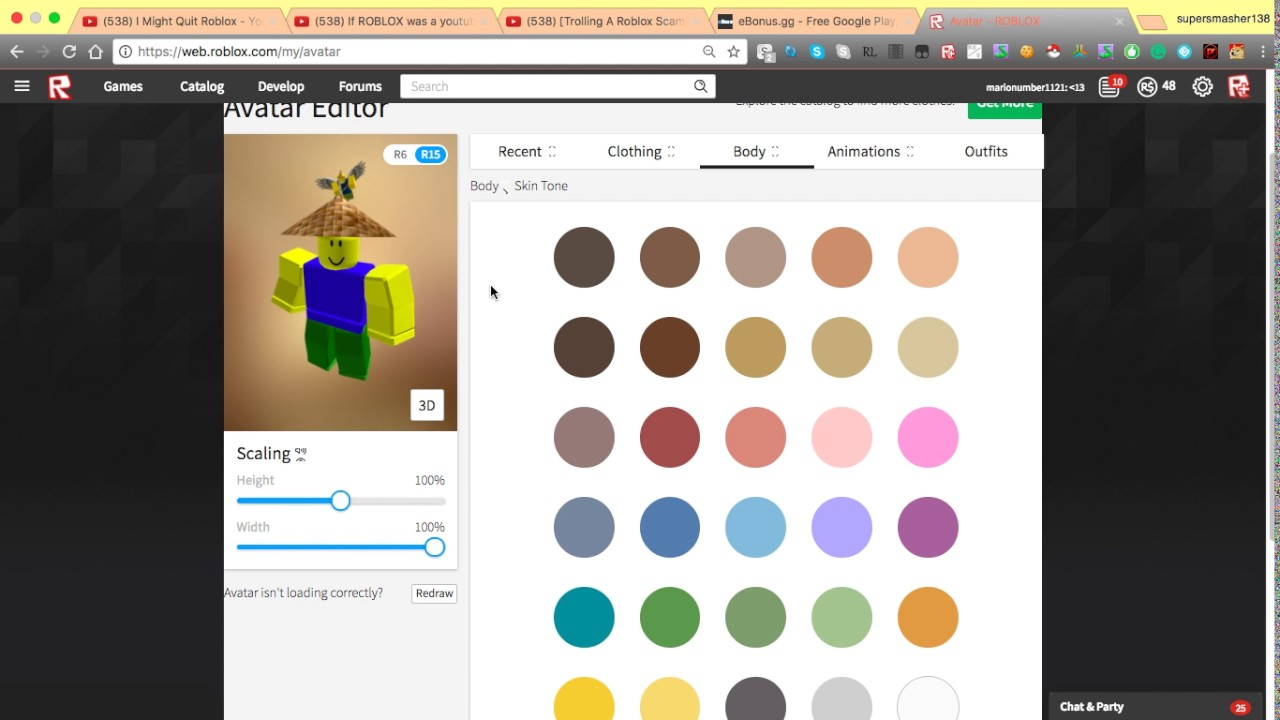 Roblox How To Change Specfic Body Part Color After Avatar Update