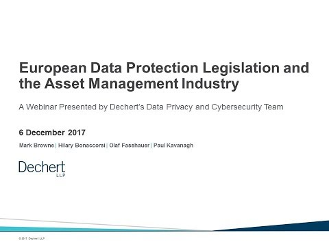 European Data Protection Legislation and the Asset Management Industry