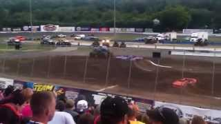 Monster Jam Stafford Motor Speedway, Stafford Springs,CT 2015 Intros and Wheelies Saturday Night