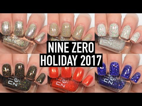 Nine Zero Lacquer - Holiday 2017   Swatch & Review