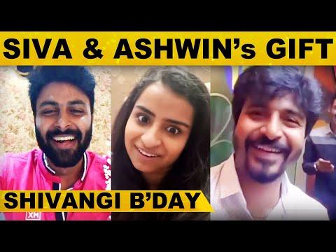 Shivangi Birthday-க்கு Surprise கொடுத்த Ashwin மற்றும் Sivakarthikeyan..! | B'day Gift | Kollywood