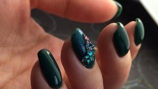 Мой маникюр | СТРАЗЫ | витражный гель лак | весенний дизайн ногтей | bagheeranails