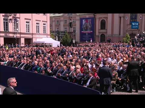 President Trump Gives Remarks to the People of Poland