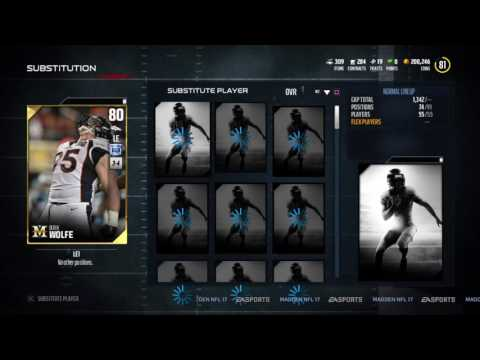 We Got Milestone Edition Derek Wolfe !!! Madden NFL 17