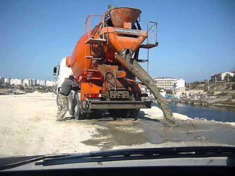 бетон сливают