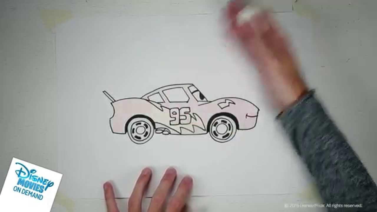 Leer Bliksem Mcqueen Van Cars Tekenen Youtube