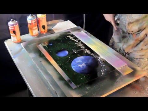Seattle Skyline - Spray Paint Art by René Schell