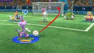 Football -Team Blaze vs Team Donkey Kong(CPU) Mario and Sonic at The Rio 2016 Olympic Games