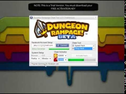 Dungeon Rampage Cheat Tool   Tutorial Travel Video