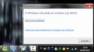 conectando nova senha do wifi no windows7