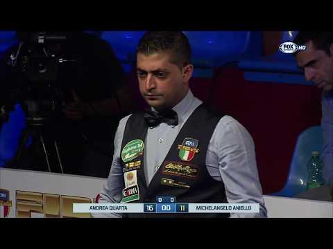 Quarta VS Aniello - I Principi del Biliardo 2016/2017 - 1^ Tappa 2^ Semifinale