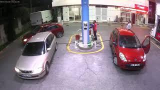 Petrol istasyonu  patlama anı