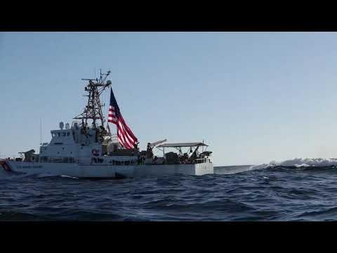 Coast Guard patrol boat USCGC Adak (WPB 1333) conducts training in the Strait of Hormuz