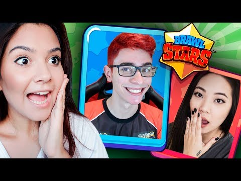 FOI AMOR À PRIMEIRA VISTA!!! FT. FLAKES POWER E MELANY | Brawl Stars