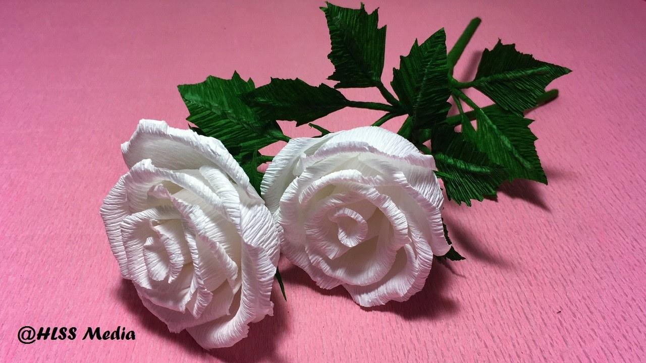 How to make crepe paper rose flowers step by how to make rose flower by crepe paper origami mightylinksfo