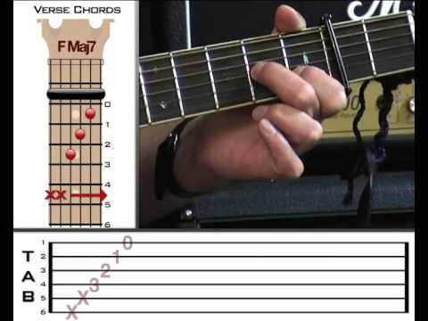 Lesson Preview: Half The World Away By Oasis - Www.vGuitarlessons.com
