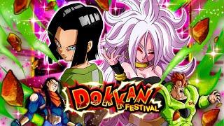 MY LUCK IS ABSURD! Android 17 & 21 Dokkan Festival Summoning Event: Dragon Ball Z Dokkan Battle
