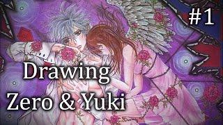 Zero & Yuki ~ Vampire Knight ~  Drawing Pt.1 Skin Tones