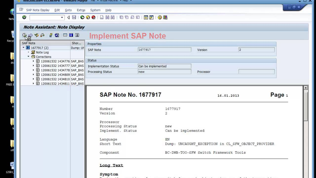 SAP:SNOTE upload notes