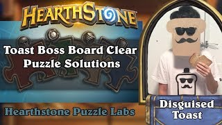 Hearthstone Puzzle Labs - Toast Boss Board Clear Puzzle Solutions