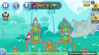 angry birds friends Warm-up Round 1 level 1, 2