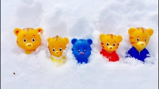 FROZEN In ICE Daniel Tigers Neighbourhood Toys Learning For Kids!