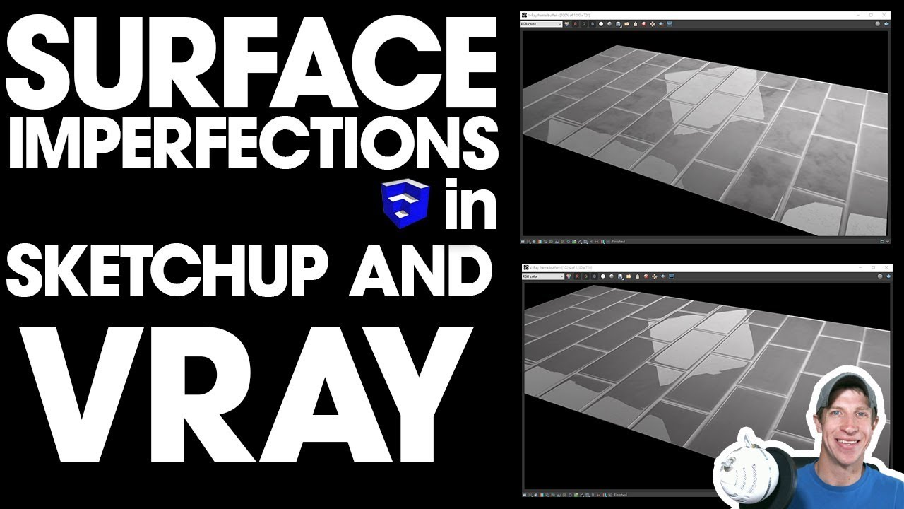 Using SURFACE IMPERFECTION MAPS in Vray for More Realistic Materials