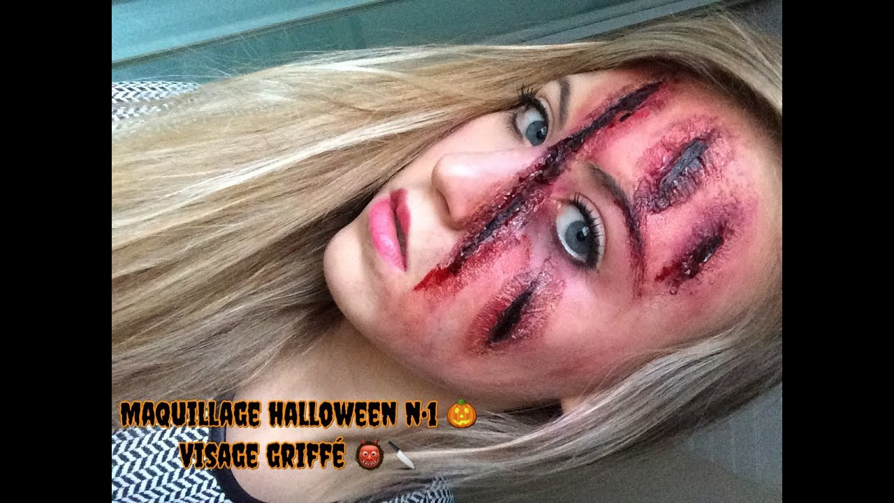 Maquillage Halloween N 1 Visage Griff Fx Makeup Clawed Face Youtube