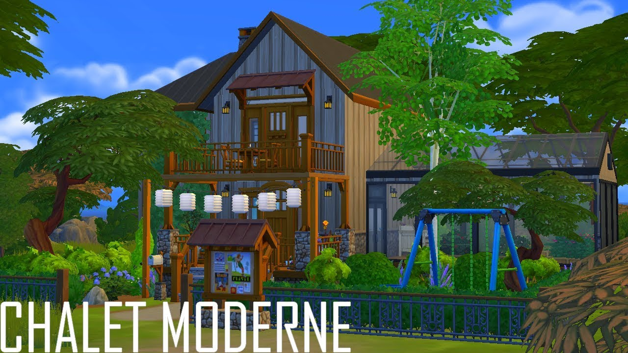CHALET MODERNE // Les Sims 4 : Speed Build - YouTube