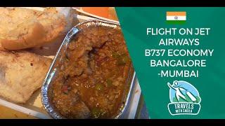 Flight on Jet Airways B737 Economy Bangalore-Mumbai