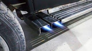 Делаем раздвоенный выхлоп своими руками - Тюнинг глушителя Chevrolet Tahoe