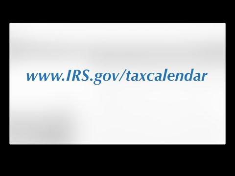 IRS Tax Calendar
