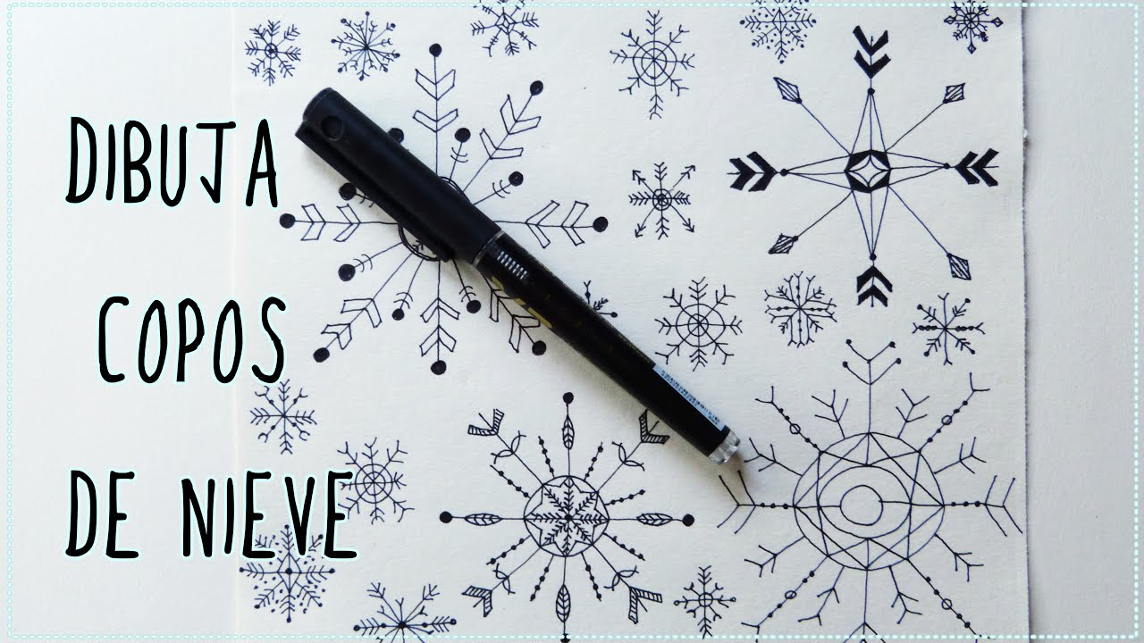 Worksheet. CMO DIBUJAR COPOS DE NIEVE  Papel decorado para Navidad  YouTube