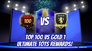 TOP 100 Η GOLD 1??!!! ULTIMATE TOTS TOP 100 AND GOLD 1 REWARDS!!