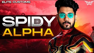 🔴H¥DRA | Alpha! - SPIDY ALPHA in ELITE CUSTOMS!😆|| PUBG MOBILE! 🤯